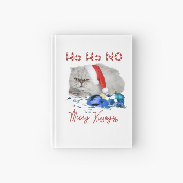 Funny Christmas Cat Merry Kissmyass Hardcover Journal