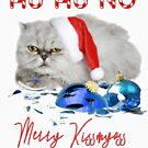 Funny Christmas Cat Merry Kissmyass by IconicTee