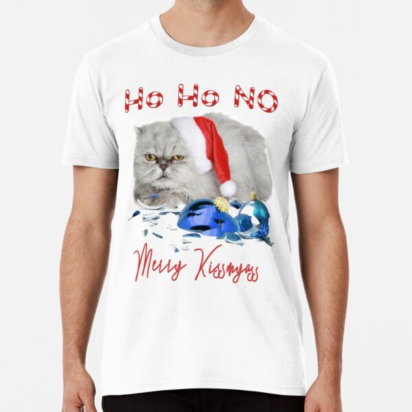 Funny Christmas Cat Merry Kissmyass Premium T-Shirt