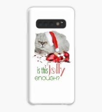 Funny Christmas Cat Jolly Enough Case/Skin for Samsung Galaxy