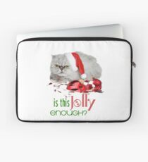 Funny Christmas Cat Jolly Enough Laptop Sleeve