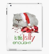 Funny Christmas Cat Jolly Enough iPad Case/Skin