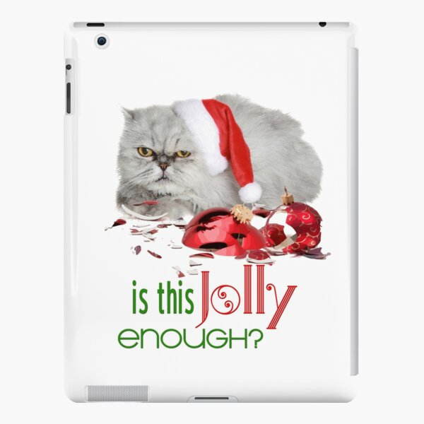 Funny Christmas Cat Jolly Enough iPad Snap Case