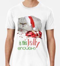 Funny Christmas Cat Jolly Enough Premium T-Shirt