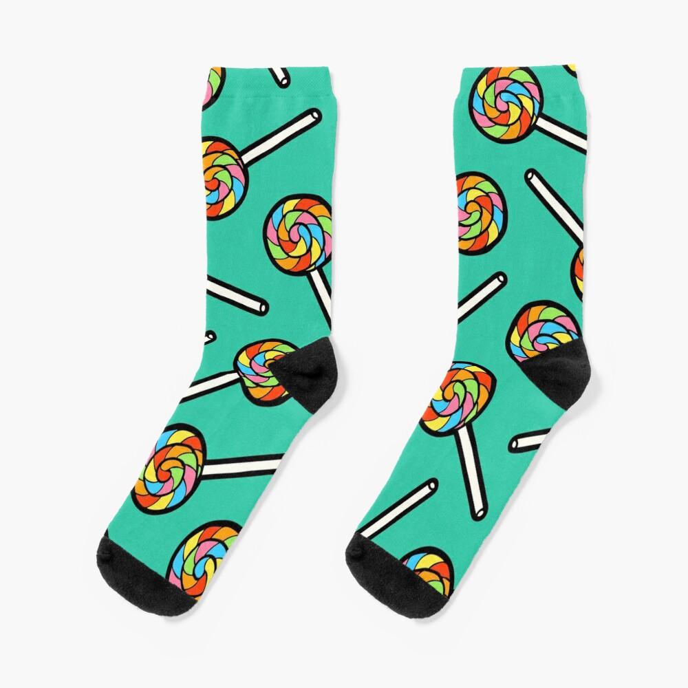 Rainbow Lollipop Pattern Socks