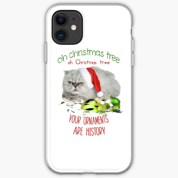 Funny Christmas Cat Oh Christmas Tree iPhone Soft Case