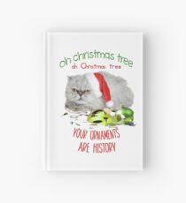 Funny Christmas Cat Oh Christmas Tree Hardcover Journal