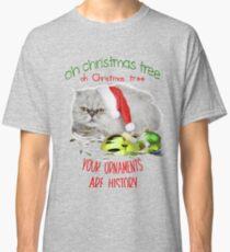 Funny Christmas Cat Oh Christmas Tree Classic T-Shirt