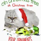 Funny Christmas Cat Oh Christmas Tree by IconicTee