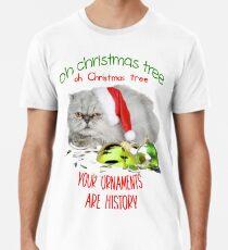 Funny Christmas Cat Oh Christmas Tree Premium T-Shirt