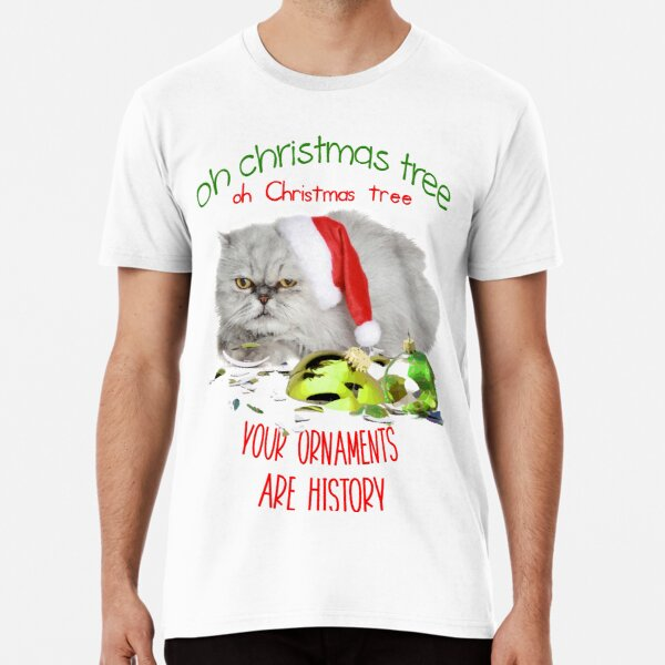 Funny Christmas Cat Oh Christmas Tree Premium T-Shirt