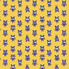 Mischievous Halloween bat showing a series of funny moods by Zoo-co
