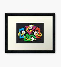 MAGIC BOXES - BRUSH AND GOUACHE Framed Print