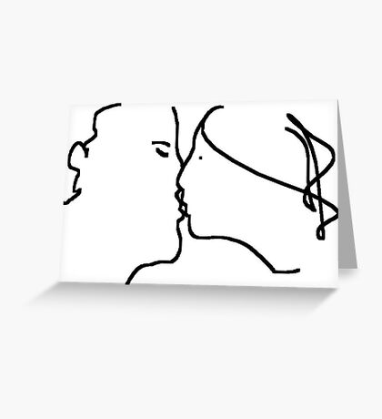 the kiss -(091110a)- ms paint Greeting Card