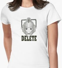 Delete Women's Fitted T-Shirt