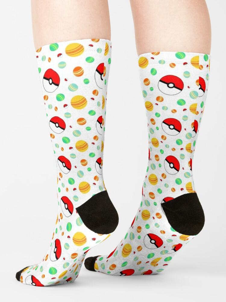 Alternate view of Pokémon candy and pokéballs Socks