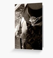 The Hat, the Gadget and the Cane Greeting Card