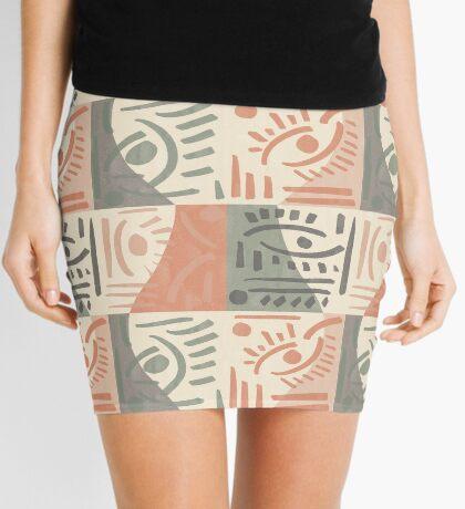 Tribal Tiles #redbubble #pattern Mini Skirt