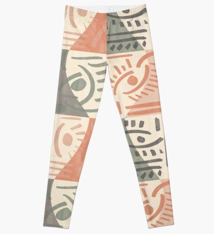 Tribal Tiles #redbubble #pattern Leggings