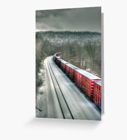 The Winter Run Greeting Card