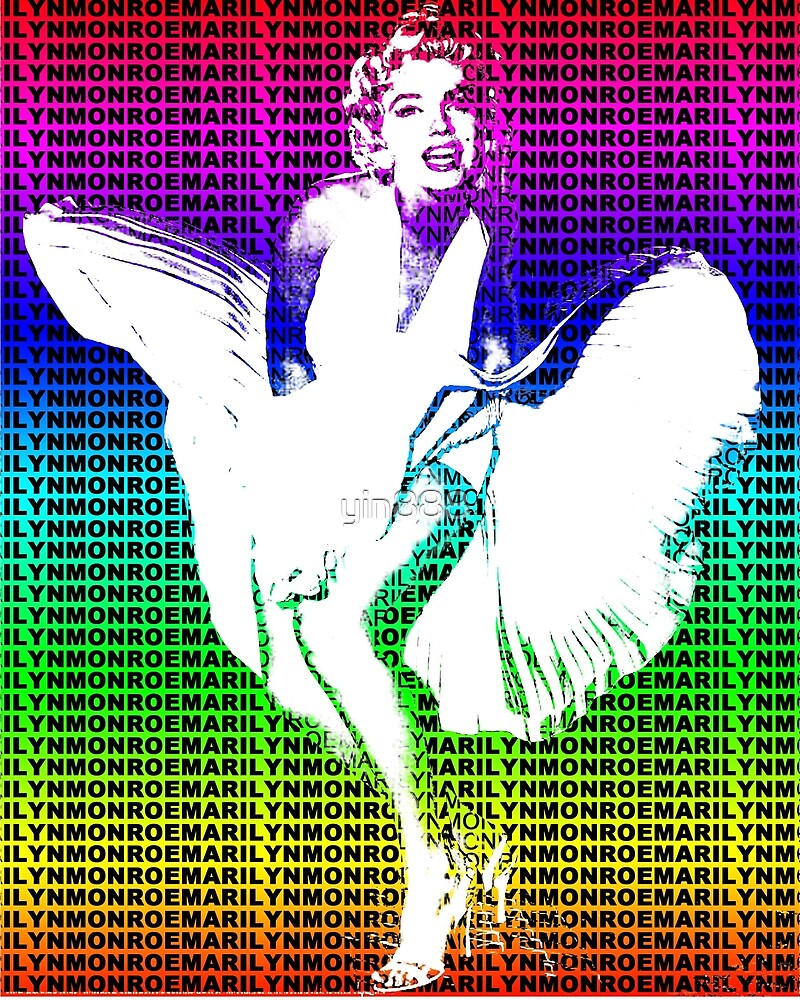 Marilyn Monroe Iconic White Dress Blowing Image Multicolour  by yin888