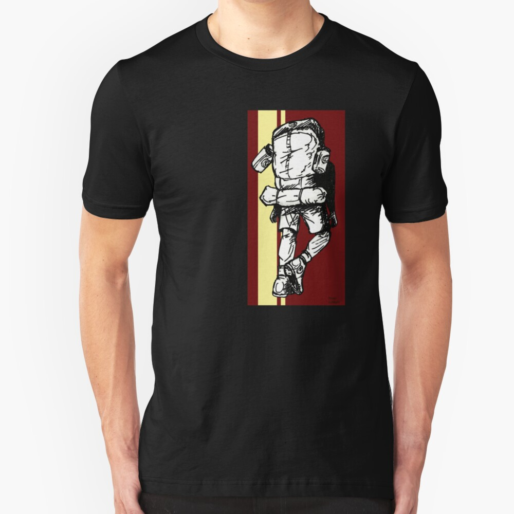 Backpacker - Red/Yellow Slim Fit T-Shirt