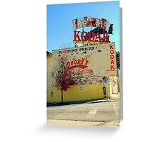 old kodak store front Greeting Card