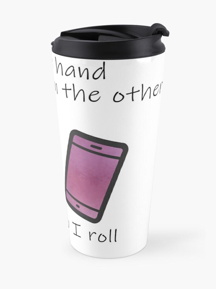 Alternate view of Copy of Coffee in One Hand - Purple Travel Mug