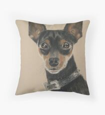 Miniature Pinscher - who's a handsome boy, then? Throw Pillow