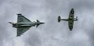Eurofighter and Spitfire Display by Nigel Bangert
