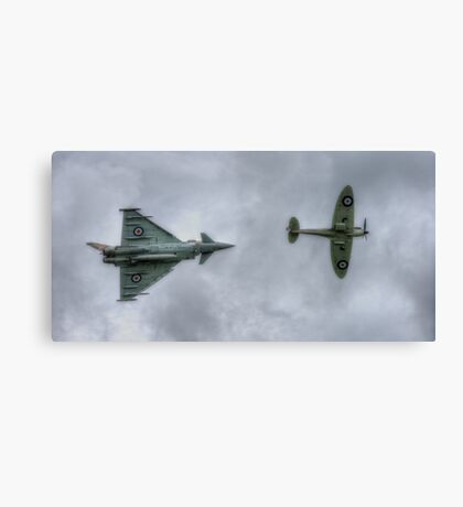 Eurofighter and Spitfire Display Canvas Print