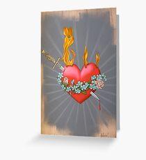 Flaming Heart Greeting Card