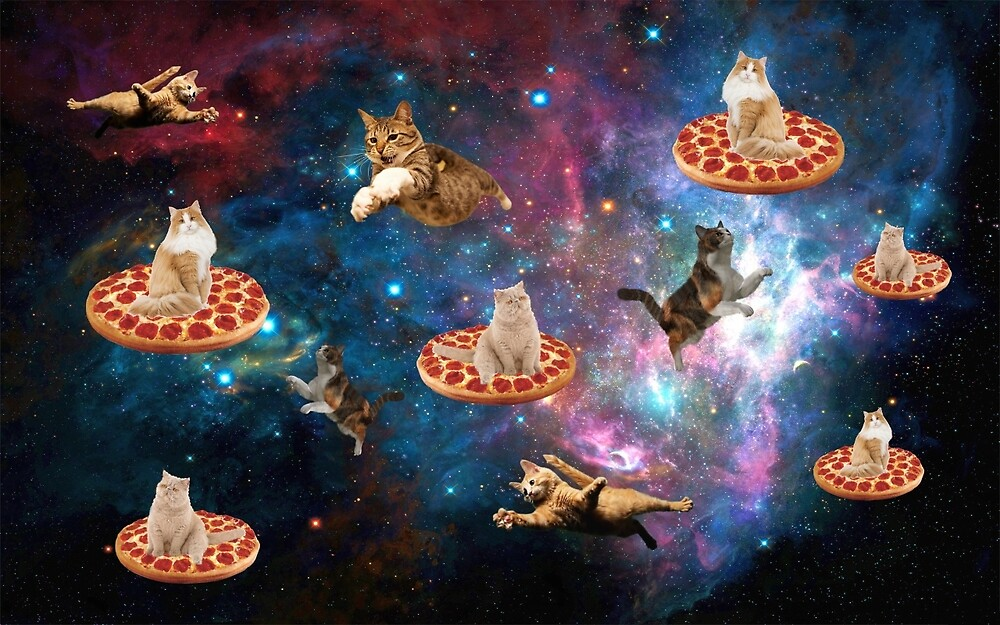 pizza cat in space by simonesayss