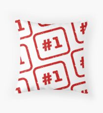 Number 1 Stamp Throw Pillow