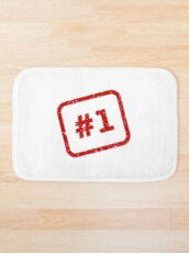 Number 1 Stamp Bath Mat