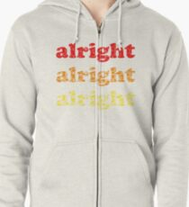 Alright Alright Alright - Matthew McConaughey : White Zipped Hoodie