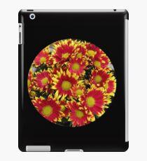 Fiery Orange and Yellow Dahlias iPad Case/Skin