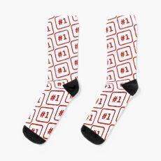 Number 1 Stamp Socks