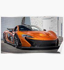 Vulkan Orange McLaren P1 Poster