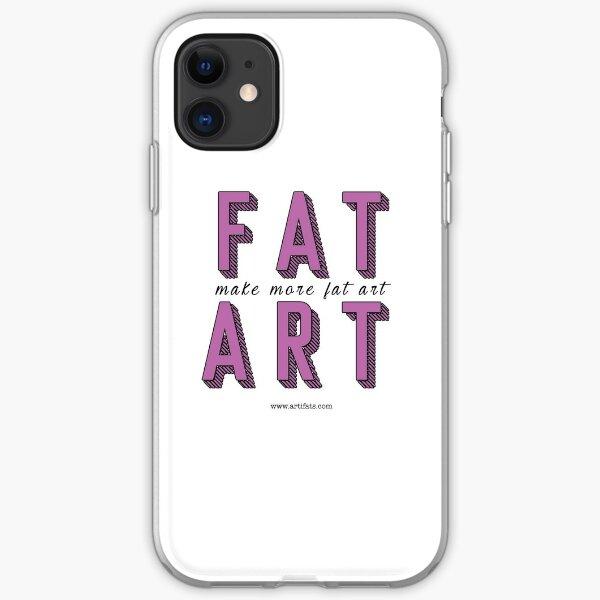 Make More Fat Art iPhone Soft Case