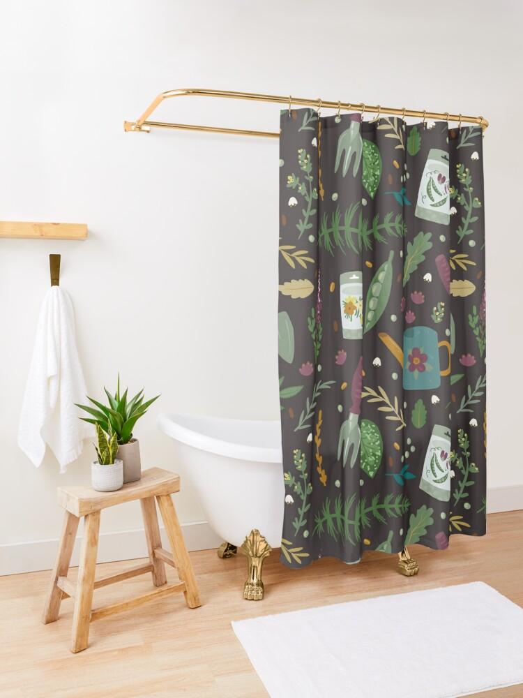 Alternate view of Garden tillage Shower Curtain