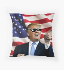 Donald Trump Deal With It Throw Pillow