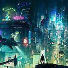 Blade Runner, Cyberpunk Neon City Tokyo by mia-scott