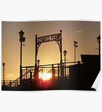 Morning Time Over The Pier At  Skegness... Poster