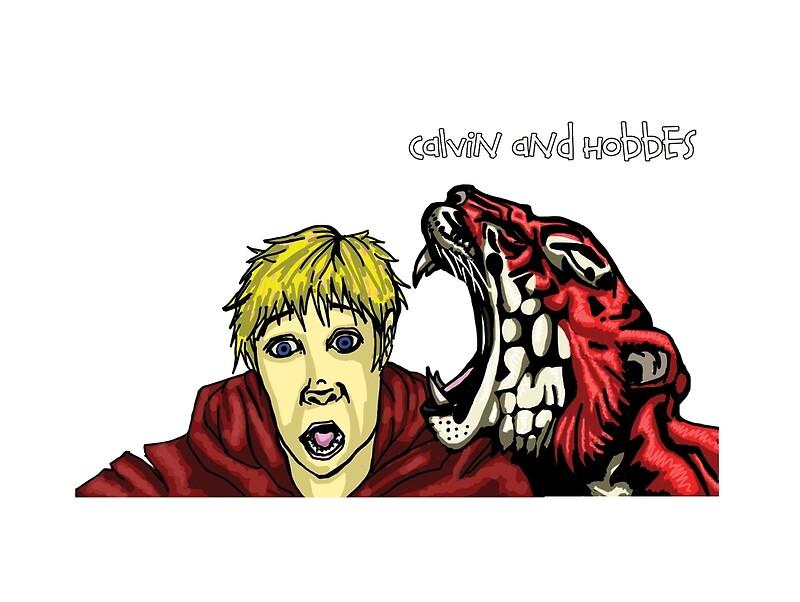 Lienzos «Calvin y Hobbes crecieron» de OGjimbo | Redbubble