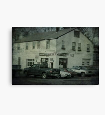 Gunn Bros. Garage Canvas Print