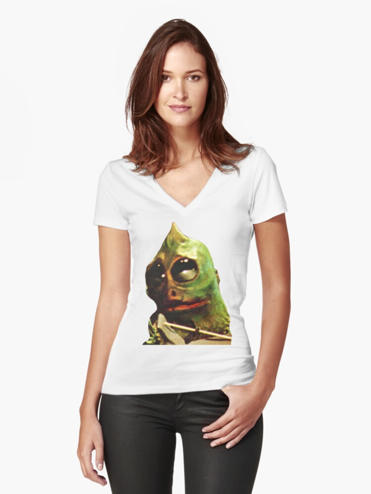Land Of The Lost Sleestak T-Shirt Women's Fitted V-Neck T-Shirt Front