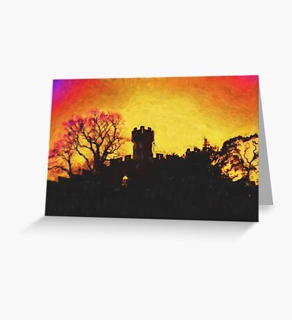 Warwick Castle - Ethelfleda's Mound Greeting Card
