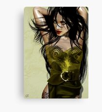 Lady Yellow Canvas Print