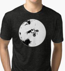 ET Extraterrestrial Moon BMX Trick Tri-blend T-Shirt